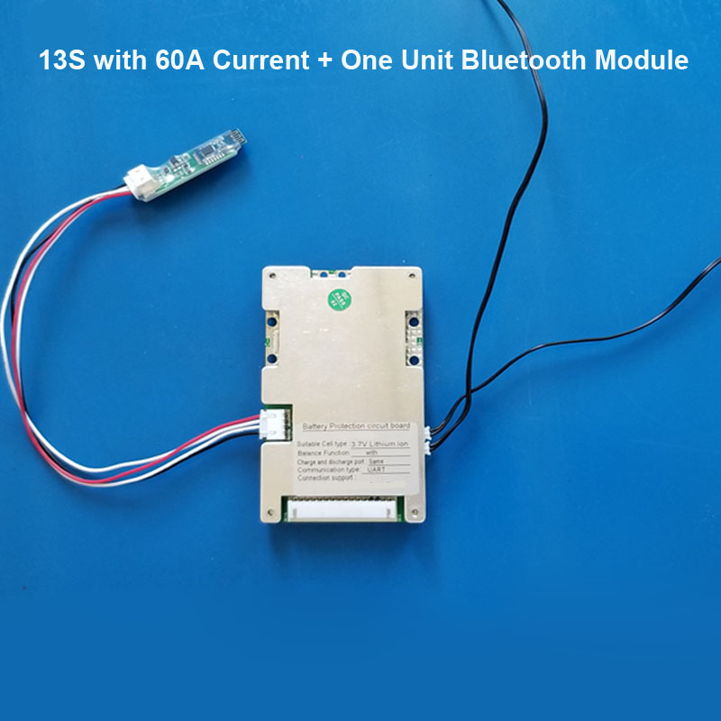 US $6 35 13% OFF|48V Smart bluetooth BMS system with 30A discharge current  for 54 6V Battery system E Bike li ion Battery software PCB Board-in