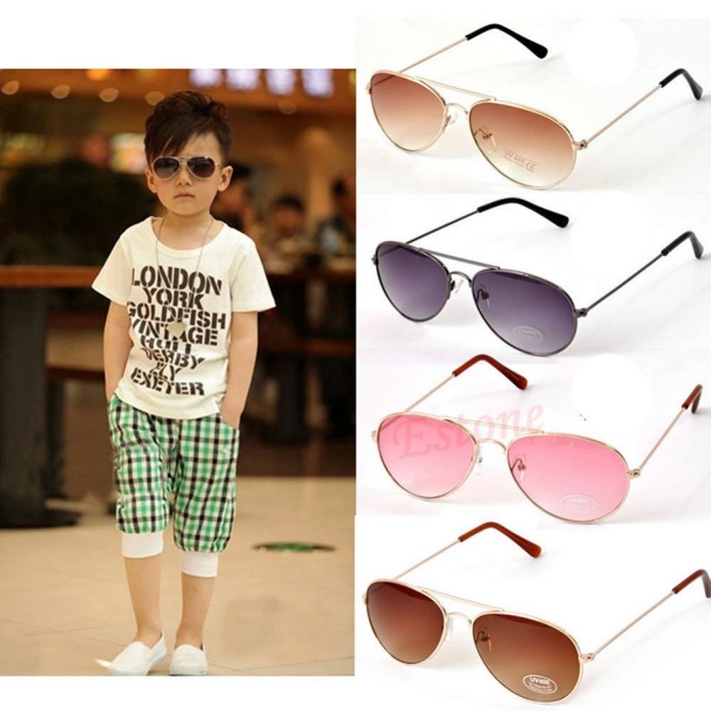 1 Stück Mode Hohe Qualität Baby Jungen Kinder Kinder Metall Rahmen Uv400 Sonnenbrille Tuch Box Brille Gafas De Sol