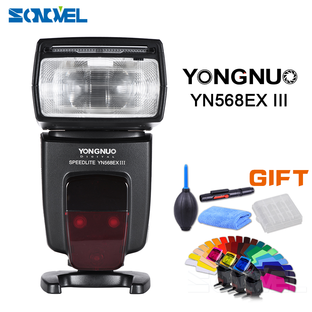 YONGNUO YN568EX III Flash Speedlite Wireless TTL Master Slave GN58 1/8000s High Speed Sync for Canon DSLR Camera W/Free Gift yongnuo yn600ex rt ii 2 4g wireless hss 1 8000s master ttl flash speedlite or yn e3 rt controller for canon 5d3 5d2 7d 6d 70d