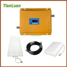 Wyświetlacz LCD 3G W-CDMA TianLuan 2100 MHz + 2G GSM 900 Mhz Dual zespół Telefon komórkowy Repeater Sygnału Wzmacniacz Sygnału GSM 900 2100 UMTS