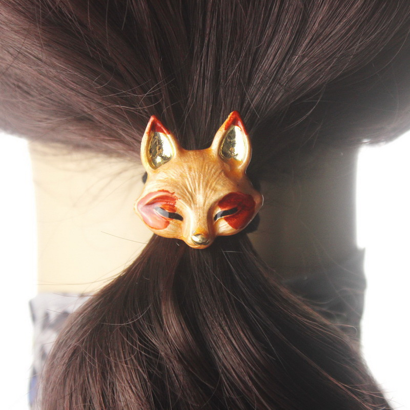 4pcs/Lot Cute Animal Scrunchy gum hair clip metal Elastic Hair Band Elegant Girls Headwear women Hair Accessories rubber bands women headwear 2017 retro hair claw cute hair clip for girls show room vitnage hair accessories for women