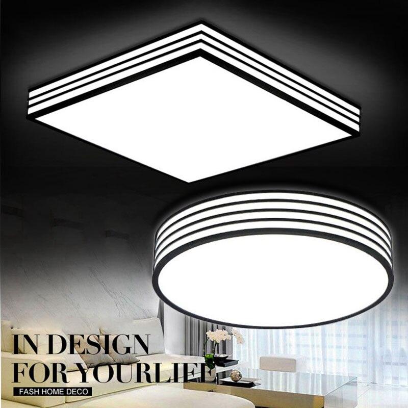 Moderne lumière LED gradateur LED plafonniers montés LED plafond 24 W 36 W pour maison bureau salon chambre cuisine salle à manger