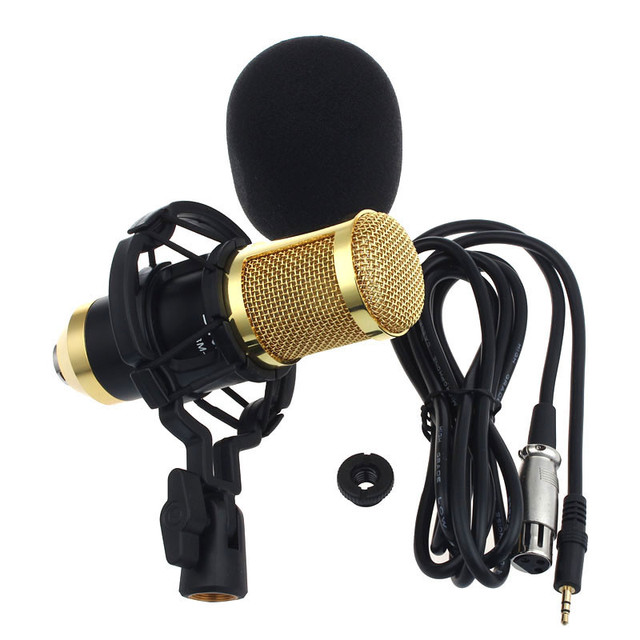 Hot Sale Sound Studio Dynamic Microphone  + Shock Mount BM800 Condenser Microphone #ET