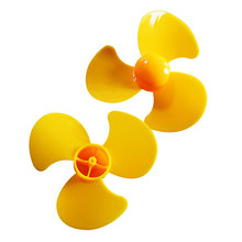 DIY Three-blade Propeller for Paddle Toy Aircraft Car Boat Robot Drone Model Model Airplane Drone Accessories Kits- Yellow(China)