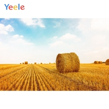 Yeele Vinyl Autumn Harvest Wheat Fields Haystack Scenery Photography Background Customized Photocall Backdrop For Photo Studio
