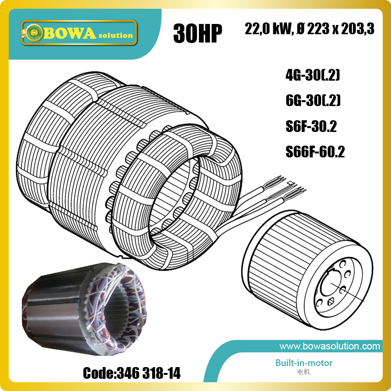 B6 22KW(30HP) motor for semi-hermetic reciprociating compressor, such as S6F30.2 or 4G30.2 and 6G30.2 алюминиевое правило profi 2 м stayer 10745 2 0