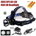 AloneFire HP87 Cree Xpe Q5 LED Zoom Headlamp Head light With 2 x18650 rechargeable battery/AC charger/car charger