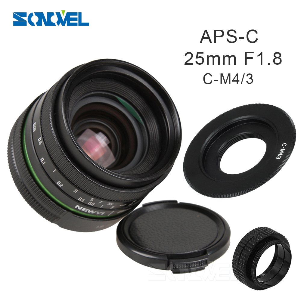 25mm F1.8 APS-C Manual Camera Lens+C Mount Adapter+Macro Rings Kit For Olympus Panasonic Micro 4/3 M4/3 G7 G10 GH3 GH2 GH1 GX1 цена