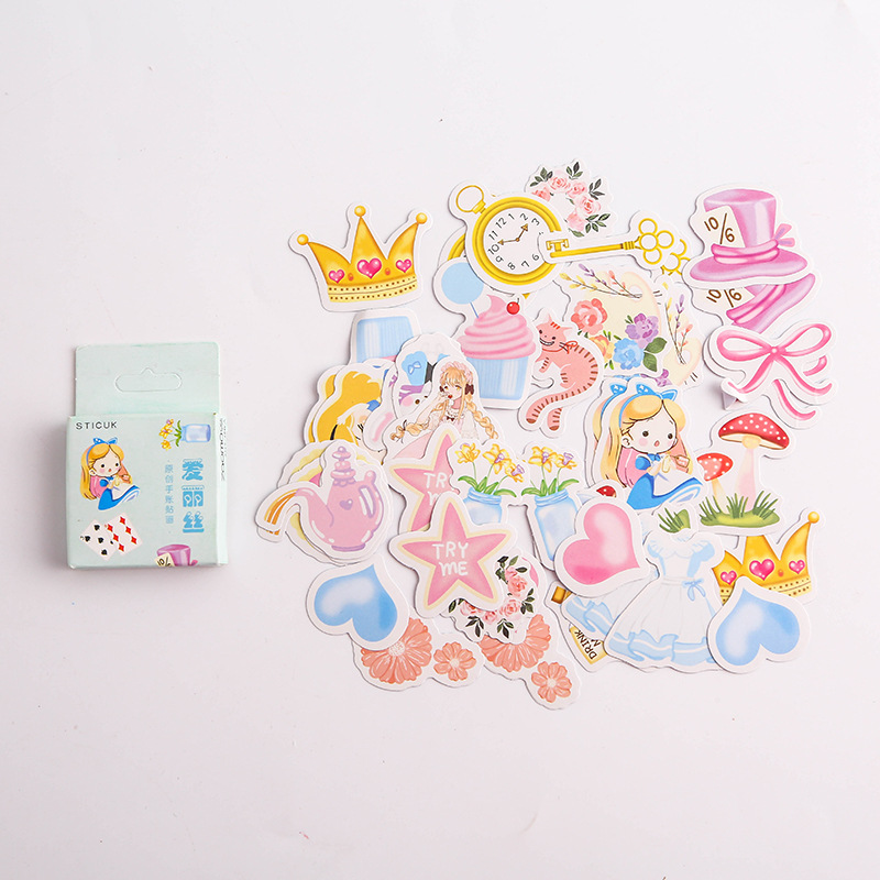 Lovely Alice Time Bullet Journal Decorative Stationery Stickers Scrapbooking DIY Diary Album Stick Label