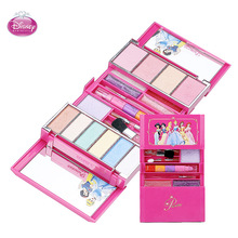 Disney Children's Safety Non-toxic Lipstick Set Cosmetic Makeup Girl Performs House Toys Gift for Children cosmetic set for kid