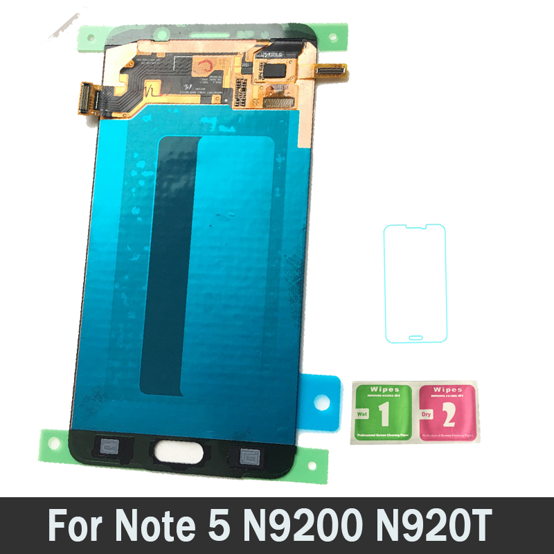 AMOLED ЖК дисплей s для Samsung Galaxy note5 n920t N920A n920i n920g Примечание 5 ЖК дисплей с цифровым преобразователем сенсорного ввода в сборе новый