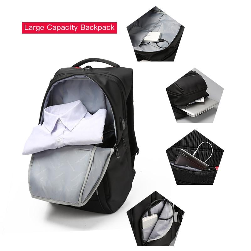 Kingsons Men Women Backpack Waterproof School Backpack for Boys Girls 13,15,17 Male Mochila Laptop Backpack 13.3,15.6,17.3 inch-in Backpacks from Luggage & Bags    3
