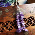Elegant amethyst gravel brief crystal earrings natural dangle Earrings for women free shipping