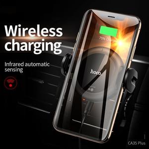 Image 3 - HOCO Qi Wireless Car Chargerขาตั้งอัตโนมัติอินฟราเรดคลิปAir Vent Mountผู้ถือโทรศัพท์มือถือ 15W Fast ChargerสำหรับiPhone XS MAX XR