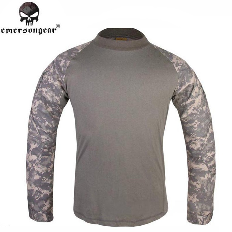 EMERSON Combat Shirt Military Army Airsoft Tactical Long Sleeves Clothing Hunting Paintball Camouflage Shirts Clothes ACU EM8461 emersongear g3 combat t shirt military bdu army airsoft tactical gear paintball hunting shirt em8586 typhon emerson