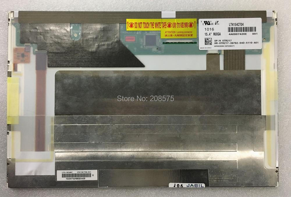 Free shipping 15.4''inch LTN154CT04 LTN154CT04-D01 Laptop LCD LED screen 1920*1200 free shipping original 9 inch lcd screen cable numbers kr090lb3s 1030300647 40pin