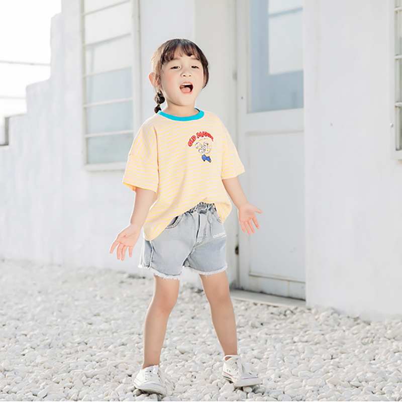 WOTTAGGA 2019 Print Baby Boys Dinosaur T Shirt For Summer Infant Kids Boys Girls T Shirts Clothes Cotton Toddler Cartoon Tops in T Shirts from Mother Kids