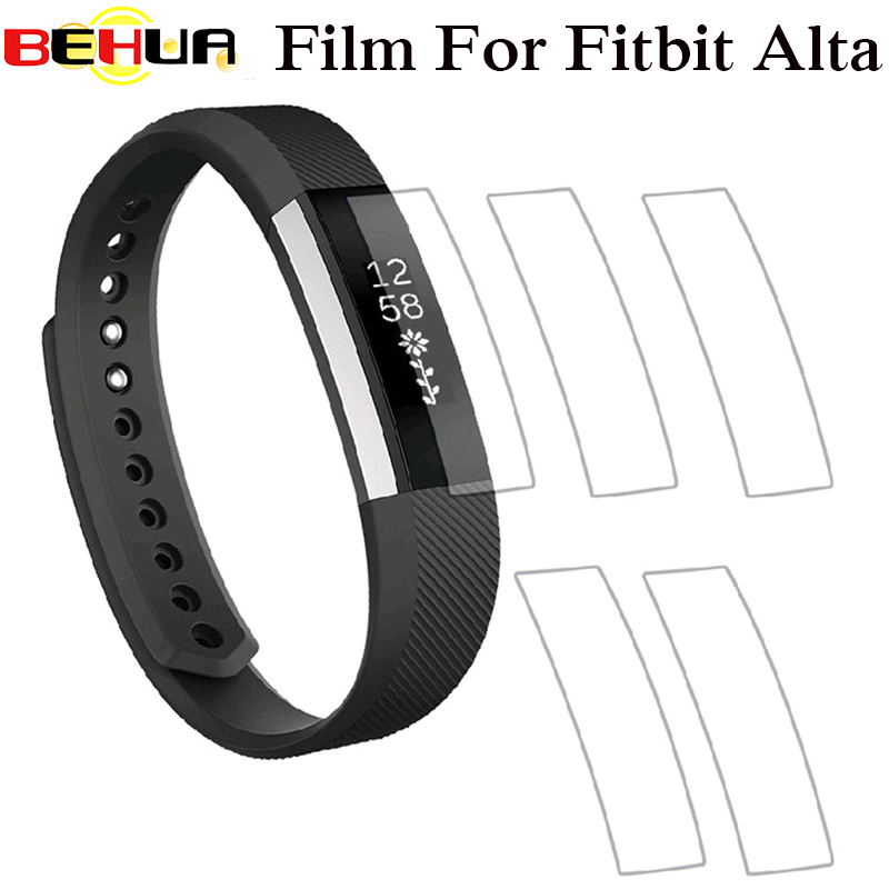 Full Cover Clear Screen Protector Film For Fitbit Alta HR Bracelet Ultra Thin HD High Definition TPU Material Protective Film