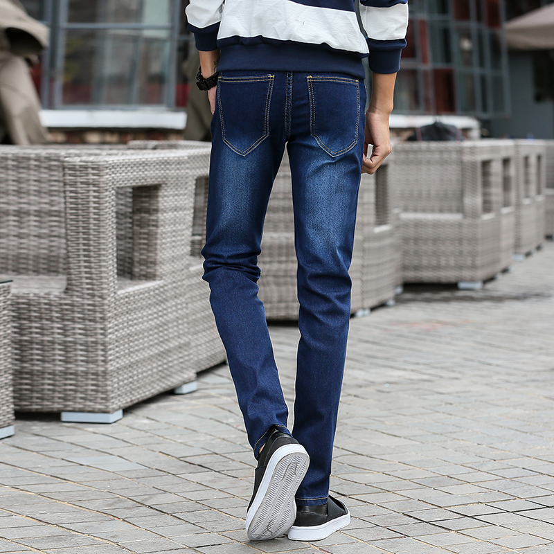72ec02e82 Calças de Brim esticar moda masculina casual super Jeans Estilo   Straight  Pants