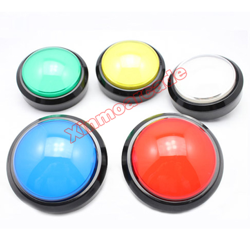 wholesale 5pcs of 100mm dome shaped Illuminated LED Push Button with micro-switch for arcade jamma MAME game machine