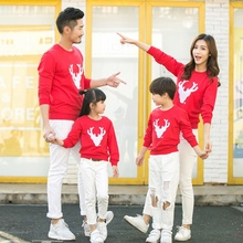 Christmas Family Sets Hoodies Father Mommy and Me Clothes Matching Family Clothing Sets