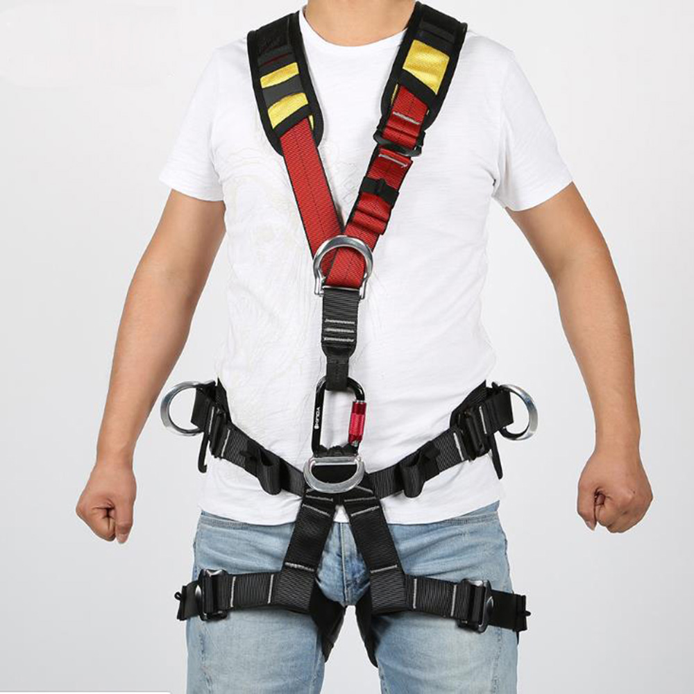 Rescue Protective Belt Escalada Full Body Climbing Harness Belt Adjustable Harness Security Seat Belt MountaineeringRescue Protective Belt Escalada Full Body Climbing Harness Belt Adjustable Harness Security Seat Belt Mountaineering