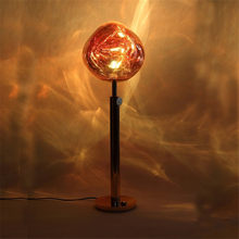 Creative personality Tom DIXON living room bedroom bedside model room irregular shape plating lava decorative floor lamp(China)