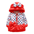 Retail 2017 New Arrive Girls Lovely Minnie Jacket Baby Boys Girls Cotton Winter Thick Warm Coat Fashion Dot Children Outerwear