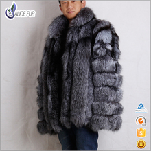 Excellent China Supplier OEM Service Natural Sliver Fox Men Fox Fur Jacket With Factory Price