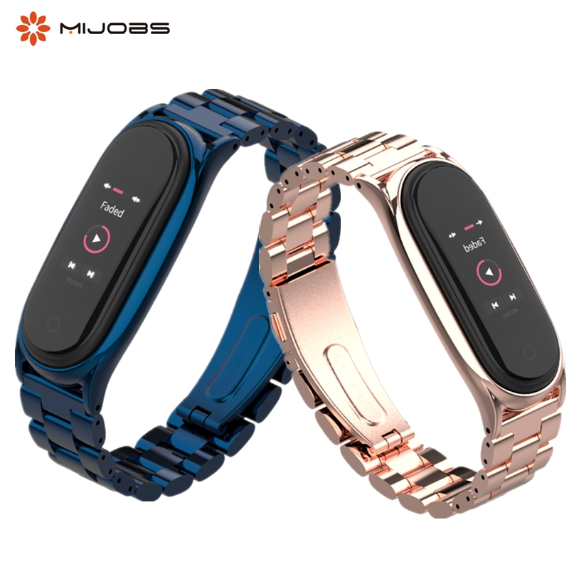 Mi Band 4 3 Strap Metal Stainless Steel For Xiaomi Mi Band 3 4 Strap Compatible Bracelet Miband 3 4 Wristbands Pulseira Miband4