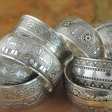 NEW Gypsy Square Flower Metal Tibetan Silver vintage retro F