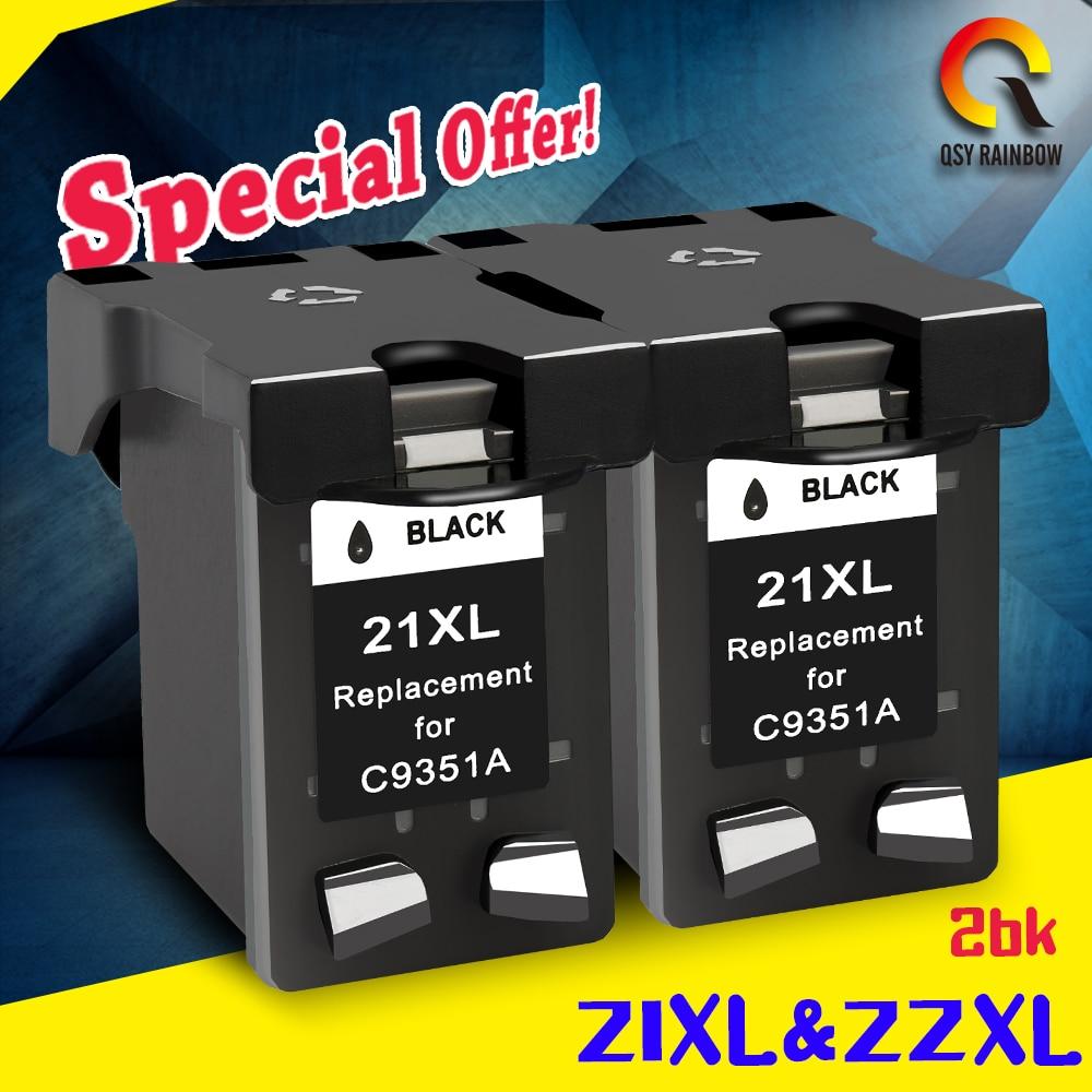 2 Black Ink Cartridges compatible For HP 21xl Deskjet F2180 F2280 F4180 F4100 F2100 F2200 F300 F380 D1500 D2300 Printer ink 1pcs 21 xl c9351an black ink cartridge for hp 21xl cartridge for hp dsekjet d1360 d2360d2460 f370 f380 f2120 f2180 f2280 f4180