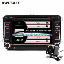 AWESAFE 2 Din 7 Inch Car DVD Player Radio For Seat/Altea/Leon/Octavia III/Ibiza/Altea XL In dash Car Radio Navigator GPS Card