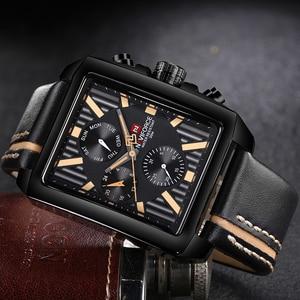 Image 3 - NAVIFORCE 男性ファッションクリエイティブ腕時計スポーツ腕時計トップブランド防水レザーストラップ時計男性レロジオの Masculino