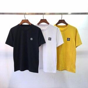 19 أفضل نسخة صغيرة شعار المطبوعة النساء الرجال الأساسية عارضة القمصان قمم المحملات الصيف نمط الرجال الشارع الشهير القطن T قميص