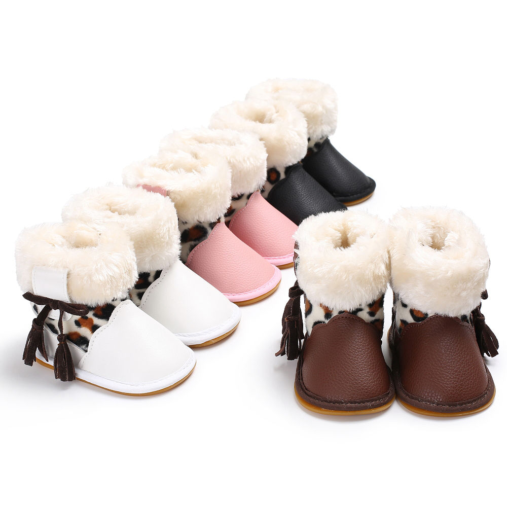 Infant Toddler Kids Baby Girls Boots Boys Kids Winter Thick Snow Boots Fur Shoes