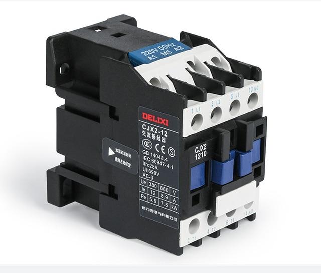 cjx2 1210 ac contactor 220v 12a coil voltage circuit. Black Bedroom Furniture Sets. Home Design Ideas