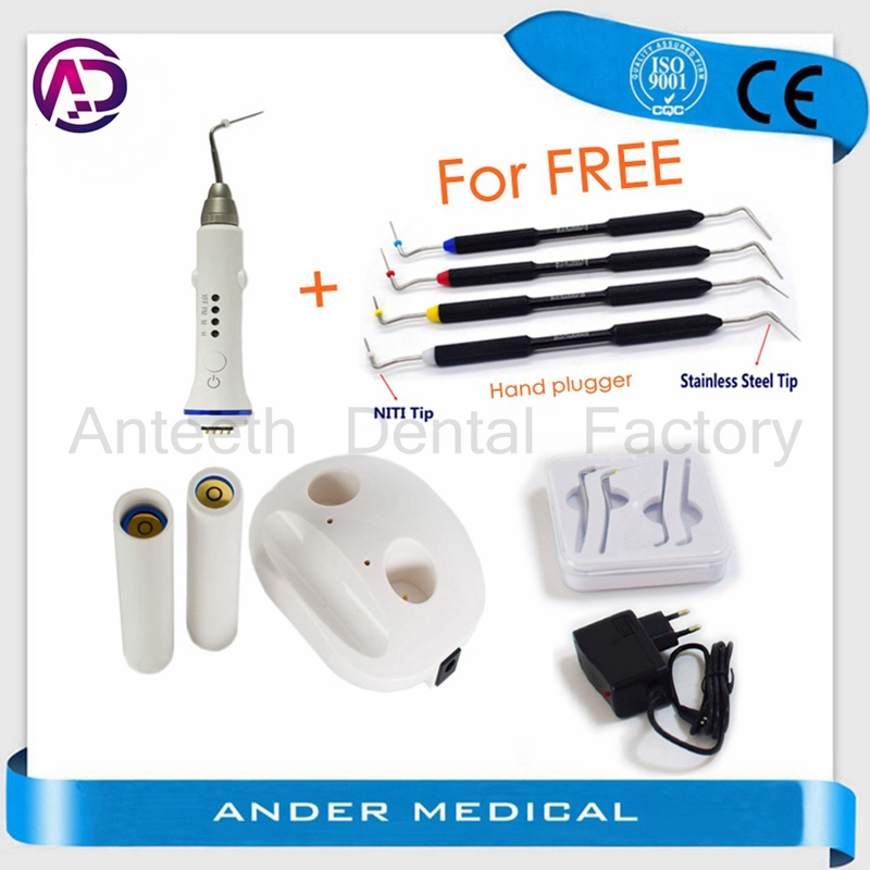 Dental Hot Melt Filling Cordless Teether Percha Obturation System and Endodontic Hand Plugger Tip Endo Vertical