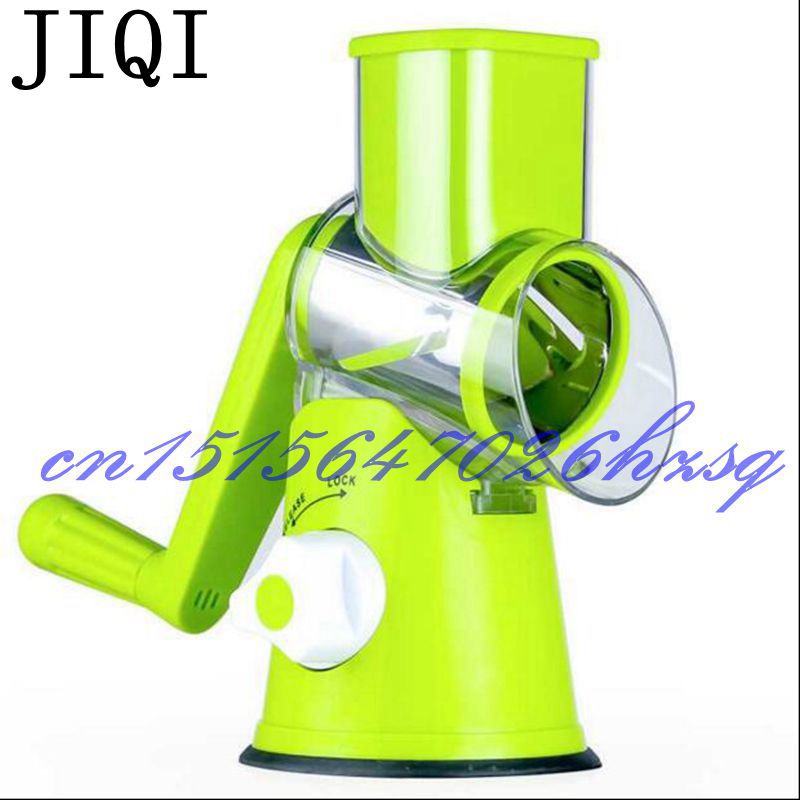 JIQI Household Manual Multifunctional vegetables cutter For kitchen vegetable Fruit grinder Three round blades hot sale multifunctional kitchen supplies cooking tools fruit vegetables peeler