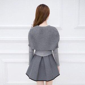 Image 5 - Primavera e invierno 2019 nueva versión Coreana de Mujeres de cultivar vestido de dos piezas de manga larga traje de moda A line vestido