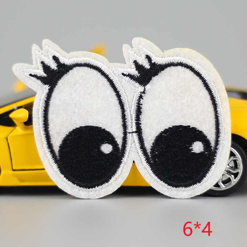HOT sale 1Pc eye lovely  Iron On Embroidered Patch For Cloth Cartoon Badge Garment Appliques