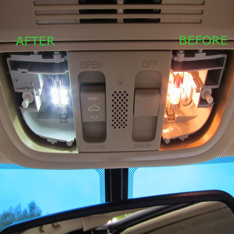 Tcart 14pcs Auto LED Bulbs Car LED Interior Lighting Kit Reading Lamp White Dome Lights For BMW E46 M3 car accessories 1999-2006
