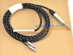 2.5M Handcrafted Upgrade HIFI Cable For Sennheiser HD800 Headphones With Neutrik 6.3mm 1/4 Plug