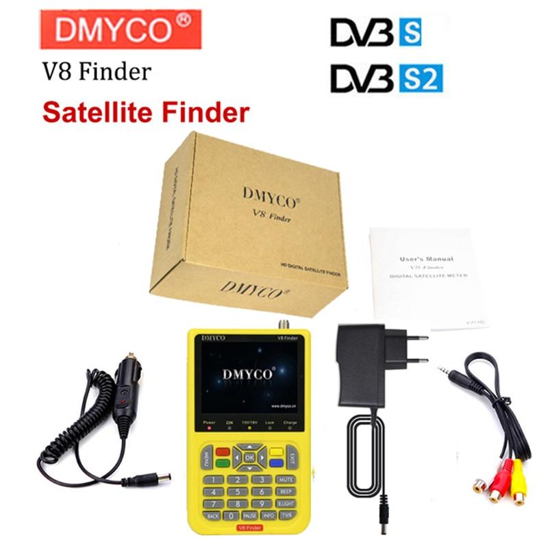 DMYCO v8 finder digital finder 3 5 inch LCD digital sat Finder DVB S2 MPEG 4