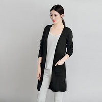 Women Cardigans Cashmere Blend Knitting Jackets For Girls 2018 New Fashion Long Open Stitch Hot Sale