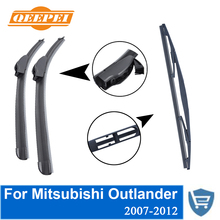Front and Rear Wiper Blade no Arm For Mitsubishi Outlander 2007-2012 High quality Natural Rubber windscreen 24''+21''