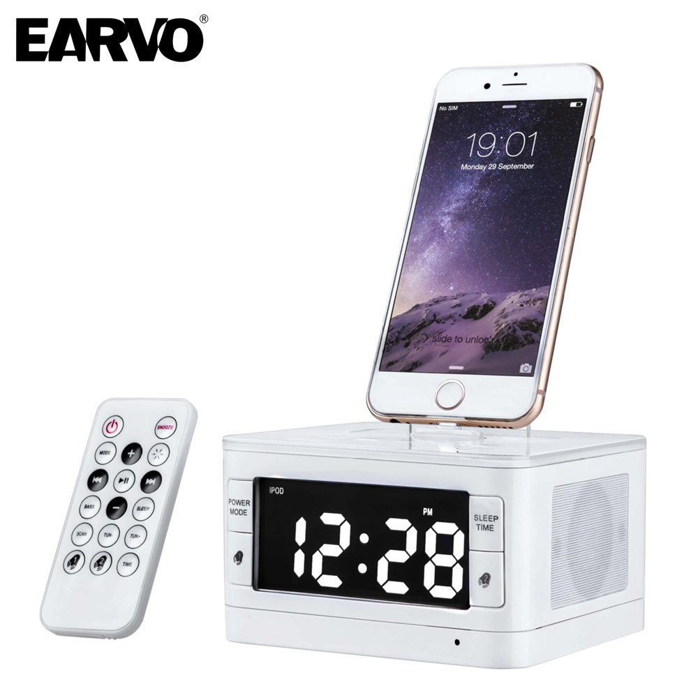 T7 Premium Portable Loudspeaker Mini Music Alarm Speaker for Apple iPod/touch/iPhone 5 5s SE 6 6 plus FM + Charger Dock Station
