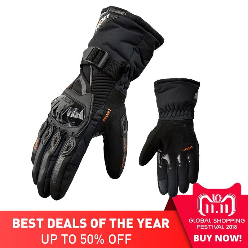SUOMY Winter warme moto rcycle handschuhe 100% Wasserdicht winddicht Guantes moto Luvas Touchscreen moto siklet Eldiveni Schutzhülle
