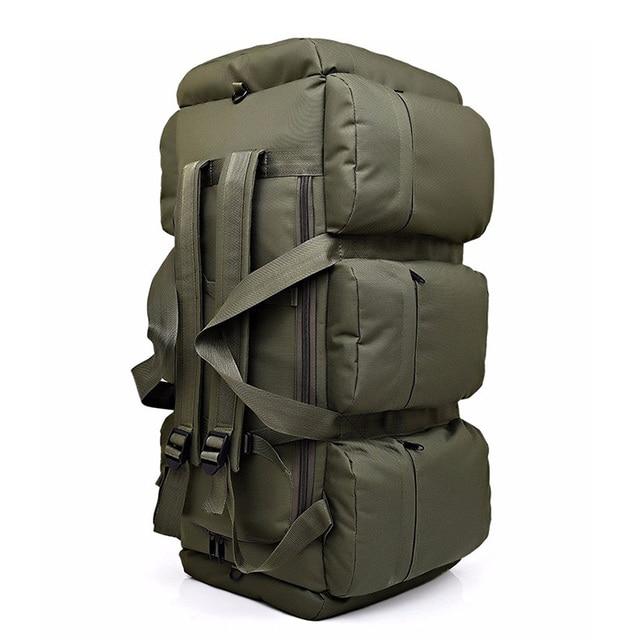 Hombres mujeres cremallera bolsas de viaje de oxford militar/camuflaje mochila de lona bolsa de lona impermeable de gran capacidad totes 90L TB0070