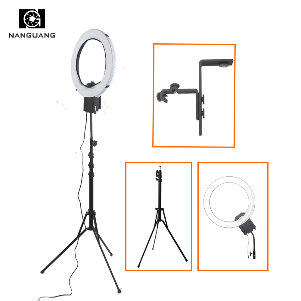 CN-65C PRO 65W Stepless Dimming Ring Light Lamp with 210cm Stand and Z Type Bracket for Still-life Photographic Portrait